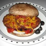 Veggie burger on portabella caps