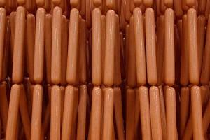 Linked hotdogs