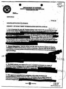 Censored DOD memo