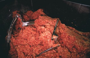 Ground beef processing