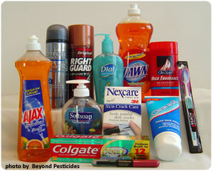 Products containing triclosan