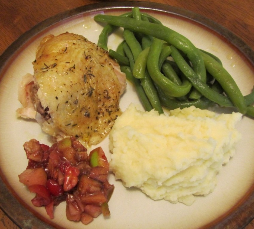 Thyme roasted chicken & veggies