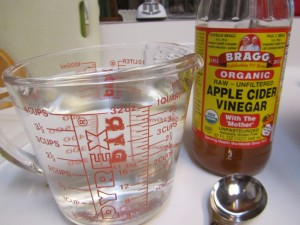 Vinegar and water