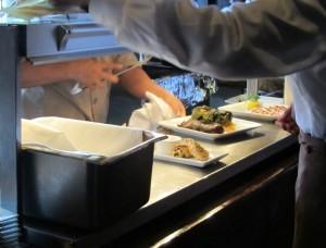 Restaurant serving meals