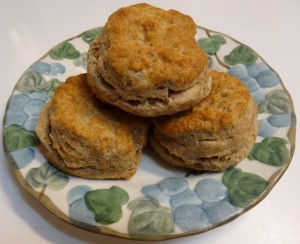 Sprouted whole wheat flour biscuits