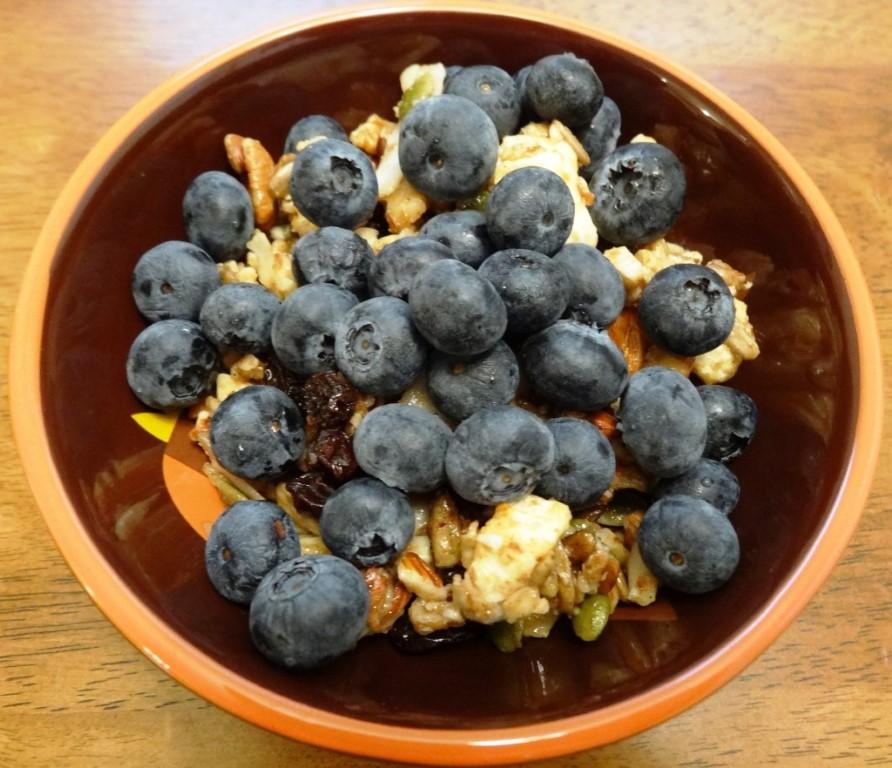Paleo Granola with Blueberries